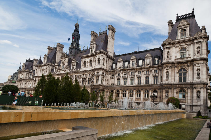 de hotell paris ville royaltyfri bild