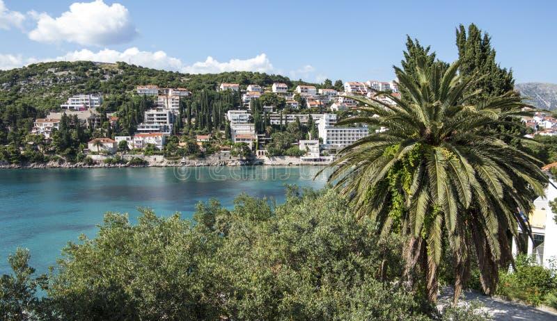De hotels van de Dubrovnikgolf stock foto