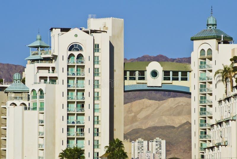 De Hotels van de toevlucht van Eilat royalty-vrije stock afbeeldingen