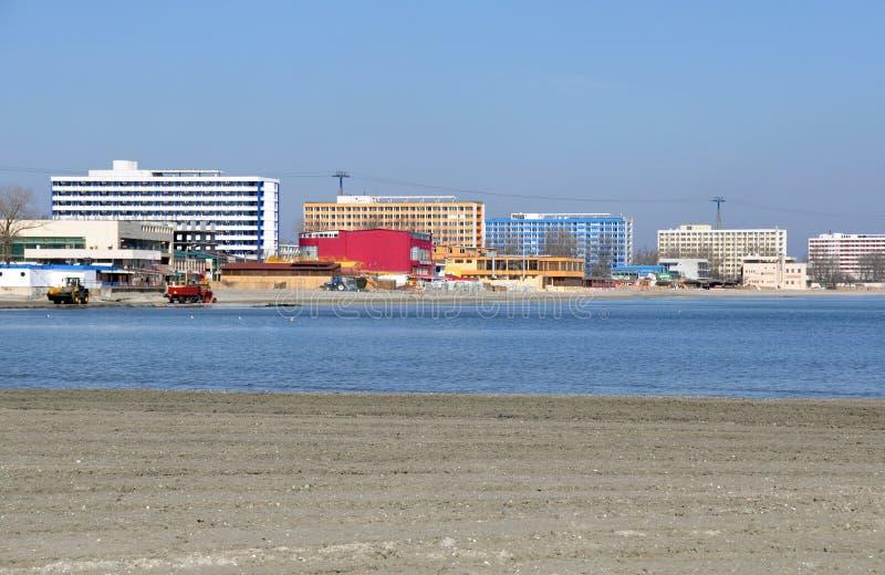 De hotels van het strand royalty-vrije stock afbeelding