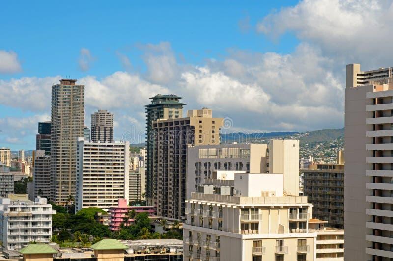 De hotels van Honolulu stock afbeelding