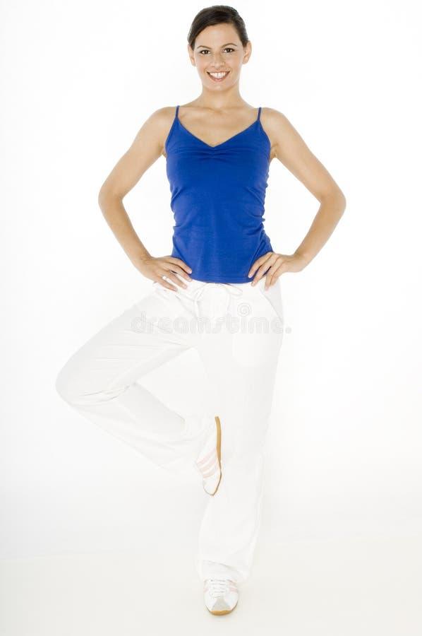 De Houding van de yoga royalty-vrije stock afbeeldingen