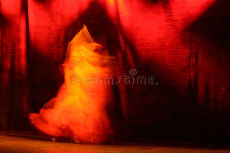 De Houding van het flamenco stock afbeeldingen