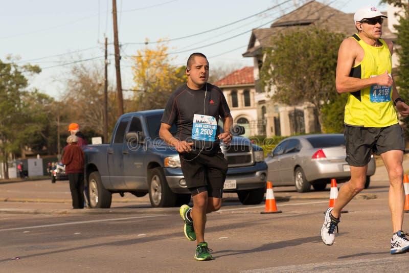 De Houston corredores 2015 de maratona imagens de stock royalty free