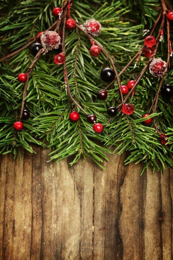 De houten achtergrond van de Kerstmisvakantie royalty-vrije stock afbeeldingen