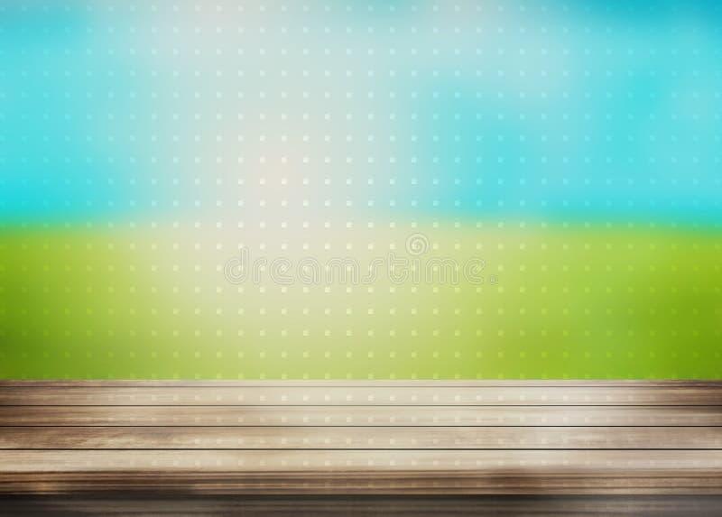 De houten achtergrond van het puntenlandschap royalty-vrije illustratie