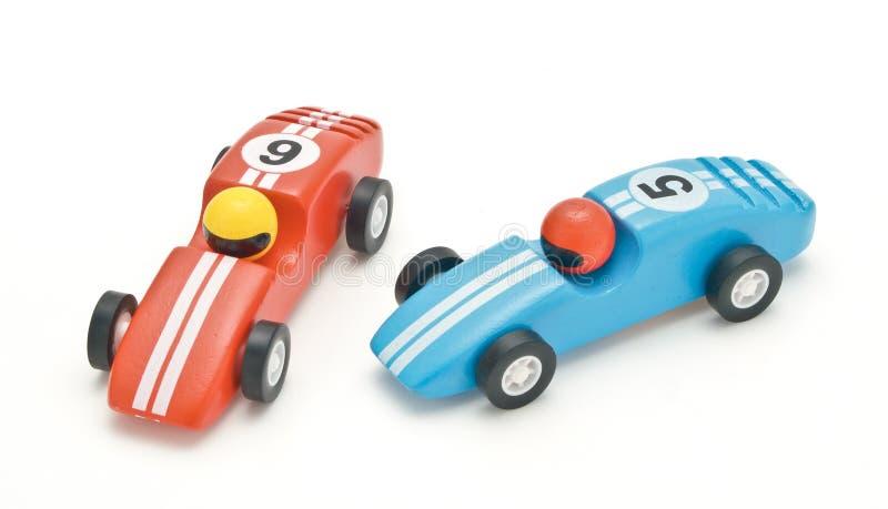 De houten auto van het stuk speelgoed stock afbeelding