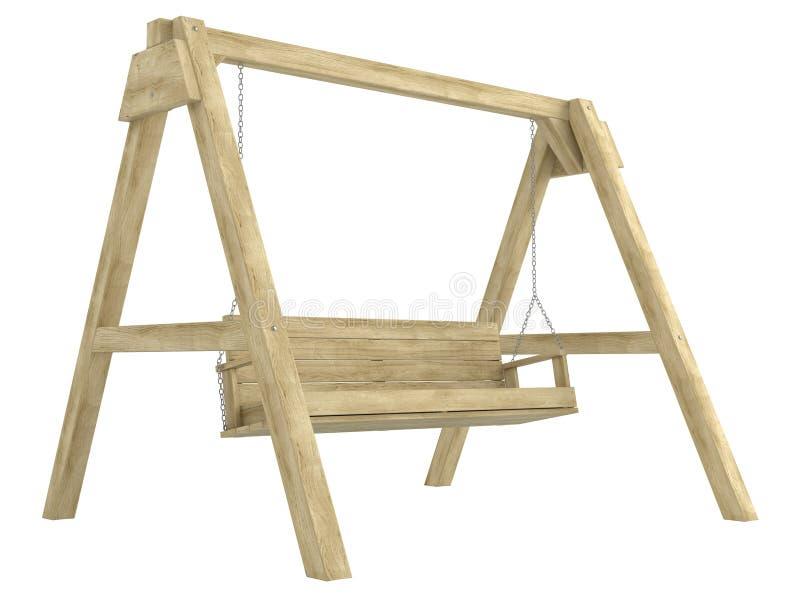 De houten bank van de tuinschommeling vector illustratie