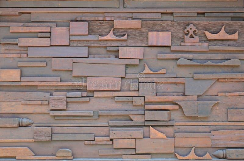 De houten Binnenlandse Stijl van de Muur stock afbeelding
