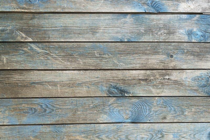 De houten blauwe achtergrond van de textuurlijst Achtergrond van de boom, planken blauwe kleur, vrij zonder voorwerpen Horizontaa stock foto's