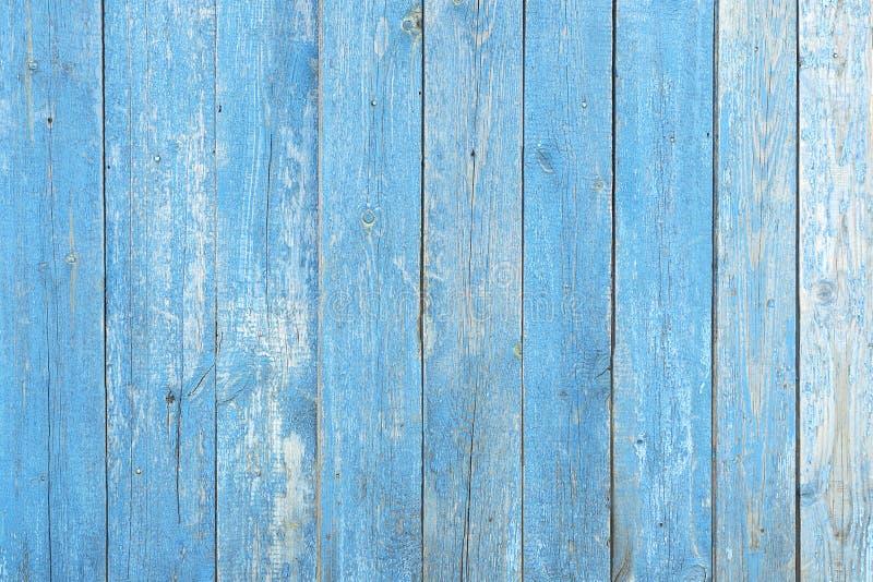 De houten blauwe achtergrond van de textuurmuur Achtergrond van de boom, planken blauwe kleur, vrij zonder voorwerpen Omheining h royalty-vrije stock afbeelding