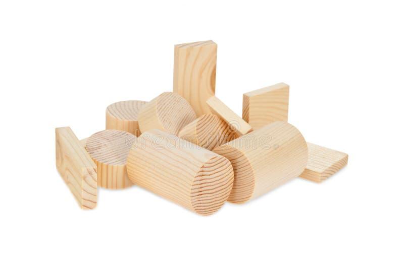 De houten blokken van kinderen voor het spel. royalty-vrije stock afbeeldingen