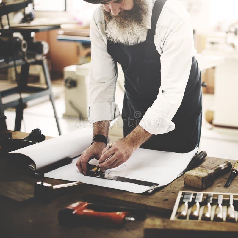 De Houten Conc Workshop van timmermanscraftmanship carpentry handicraft royalty-vrije stock fotografie
