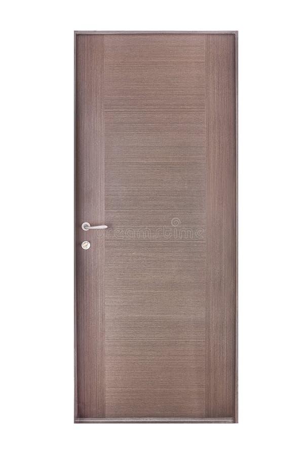 De houten deur isoleert royalty-vrije stock foto's