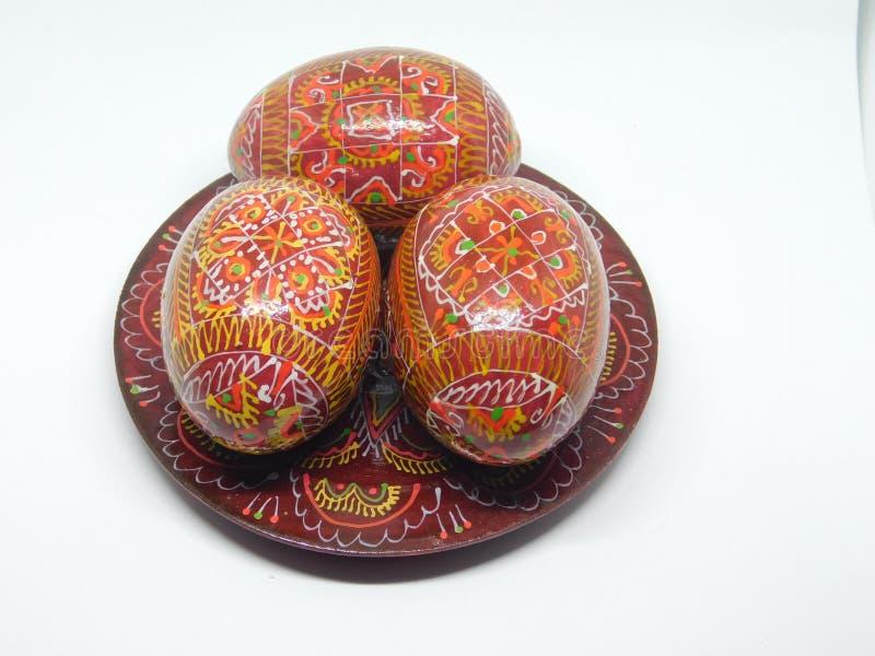 De Houten Eieren van Pasen stock foto