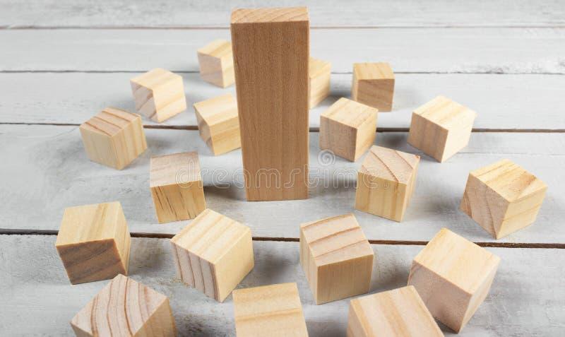 De houten foto van het blokkenconcept op lijst royalty-vrije stock afbeelding