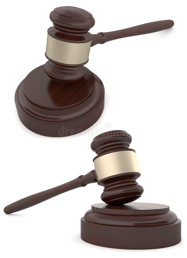De houten Hamer van Rechters stock illustratie