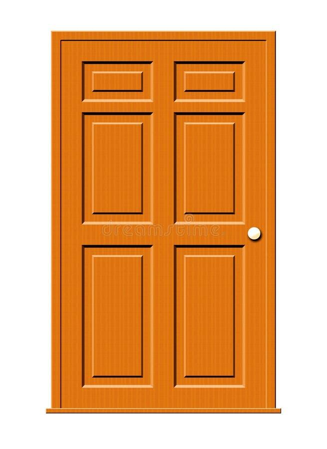 De houten Illustratie van de Deur vector illustratie
