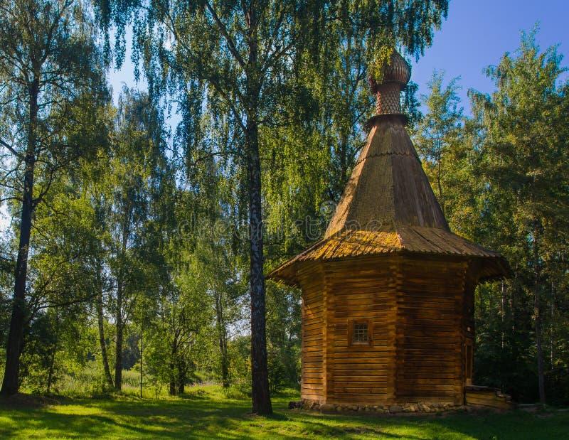 De houten kapel van de nieuwe Kerk van Jeruzalem onder Moskou royalty-vrije stock foto's