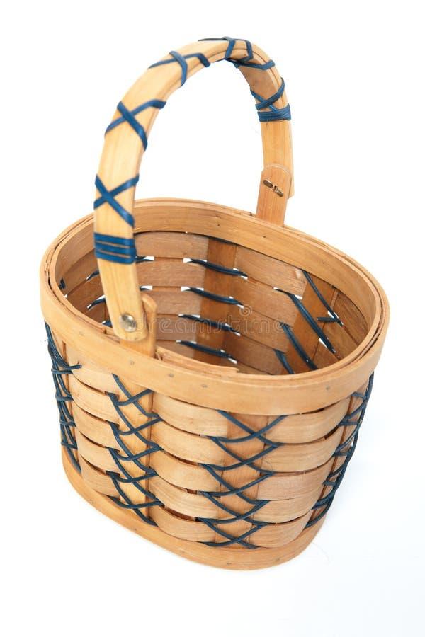 De houten/mand van Pasen. royalty-vrije stock afbeeldingen