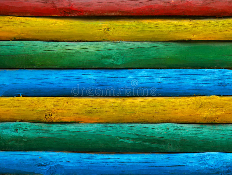 De houten muur van de kleur stock fotografie