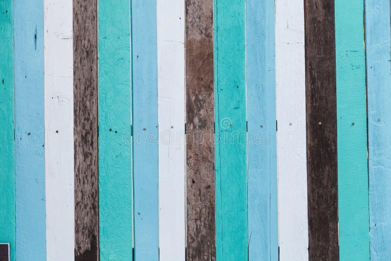 De houten muur van de kleur royalty-vrije stock fotografie