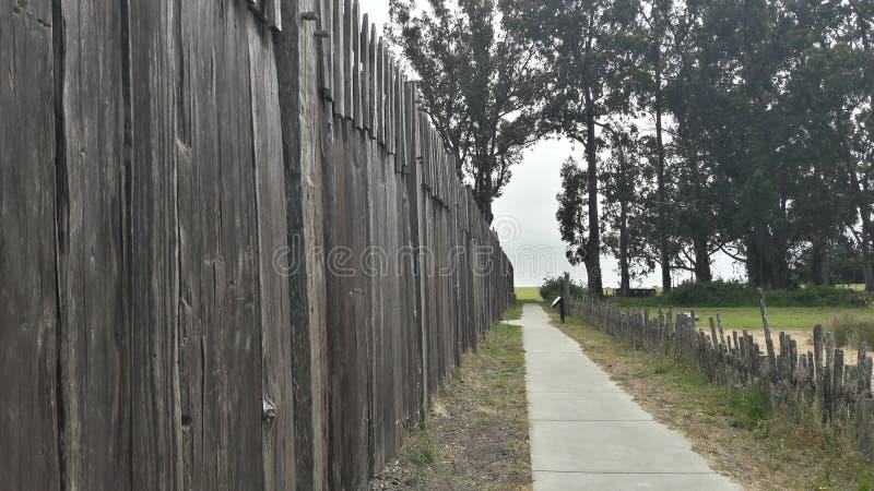 De houten muur van fortross stock fotografie