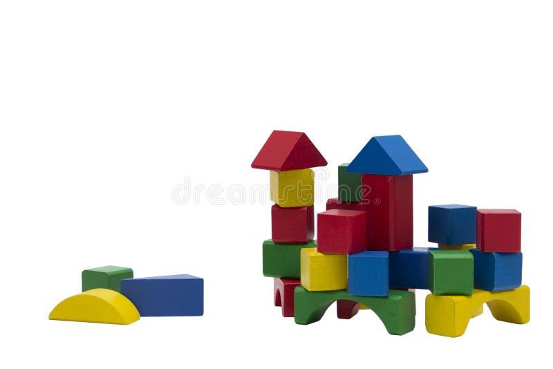 De houten ontwerper van kinderen van kubussen royalty-vrije stock foto's