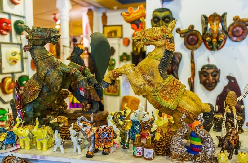 De houten paarden stock afbeelding