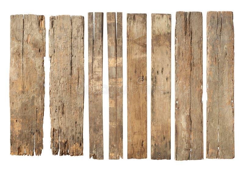 De houten plank doorstond beschadigde reeks royalty-vrije stock afbeeldingen