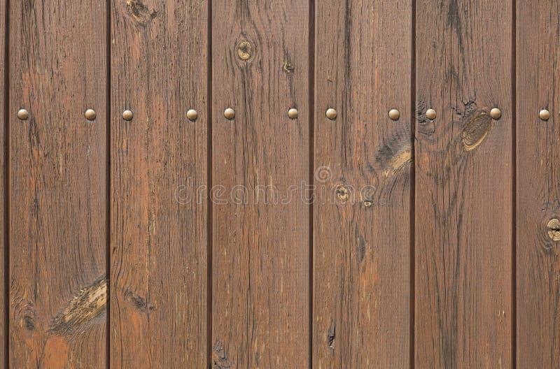 De houten planken schilderden bruin Achtergrond textuur stock foto's