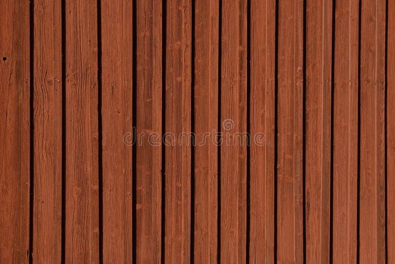 De houten planken textur in Zweeds falunred stock afbeelding