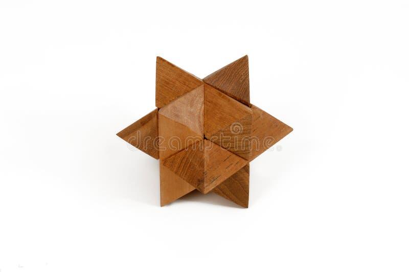 De houten raadsels gieten star-shaped royalty-vrije stock fotografie