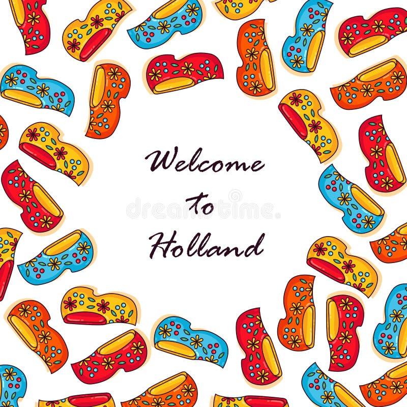 De houten schoenen van Nederland stock illustratie