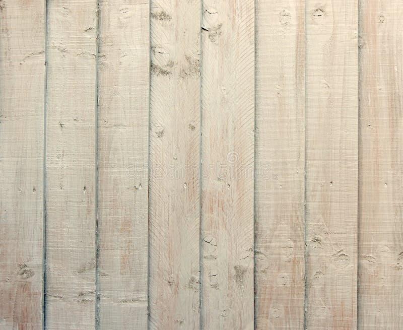 De houten stroken van room kleurden geschilderd hout stock foto