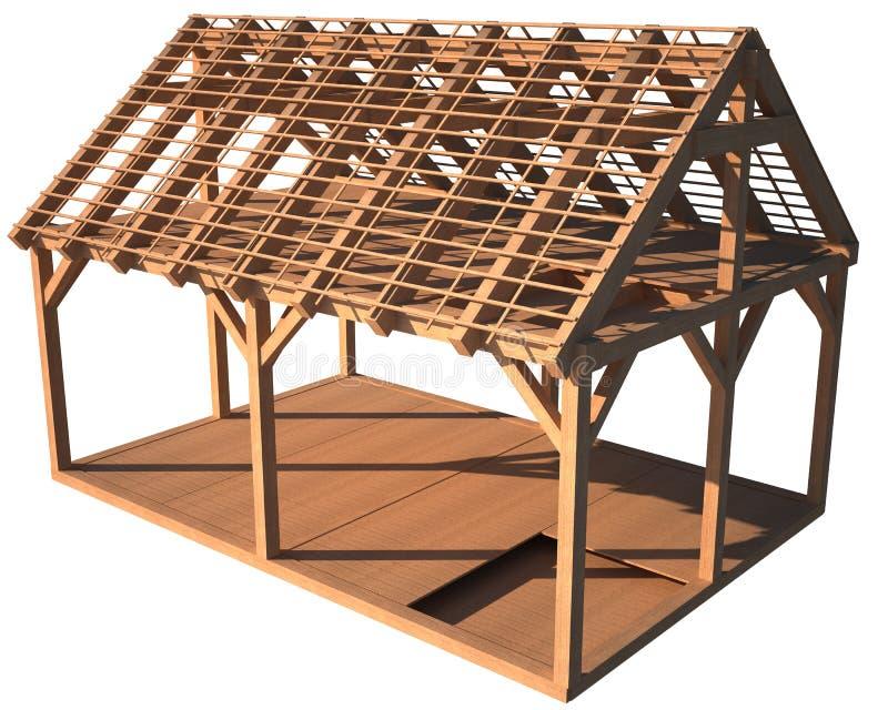 De houten structuur van het huis royalty-vrije illustratie