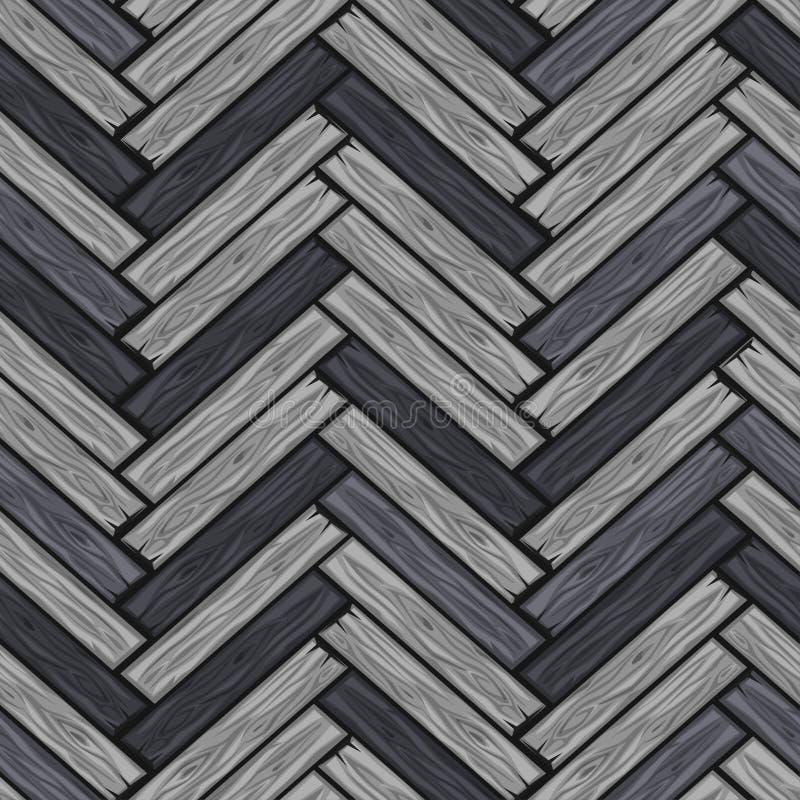 De houten visgraatvloer betegelt patroon De naadloze raad van het textuur grijze houten parket Vectorillustratie voor gebruikersi stock illustratie