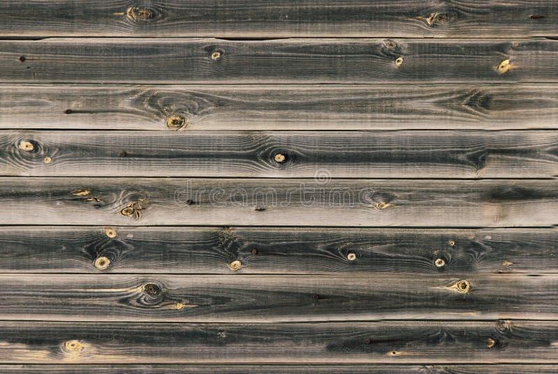 De houten voering scheept muur in Donkere bruine houten textuur oude panelen als achtergrond, Naadloos patroon Horizontale planke stock afbeelding