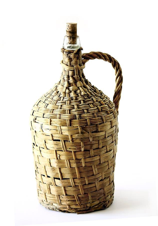 De houten Wijn van de Fles royalty-vrije stock foto's