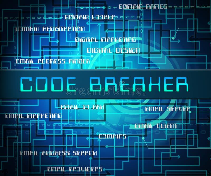 De Houwer 2d Illustratie van codebreker Gedecodeerde Gegevens vector illustratie