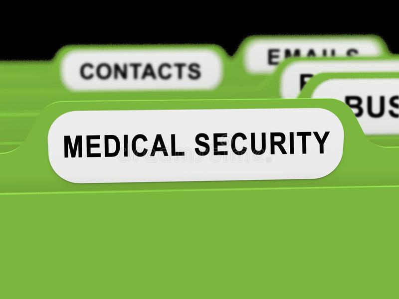 De Houwerbescherming van de Cyberveiligheid het Medische 3d Teruggeven stock illustratie