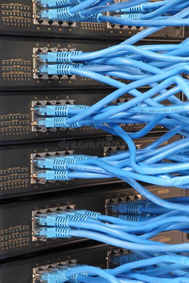 De hub van het netwerk stock afbeeldingen