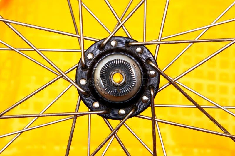 De hub van het wiel als ster stock fotografie