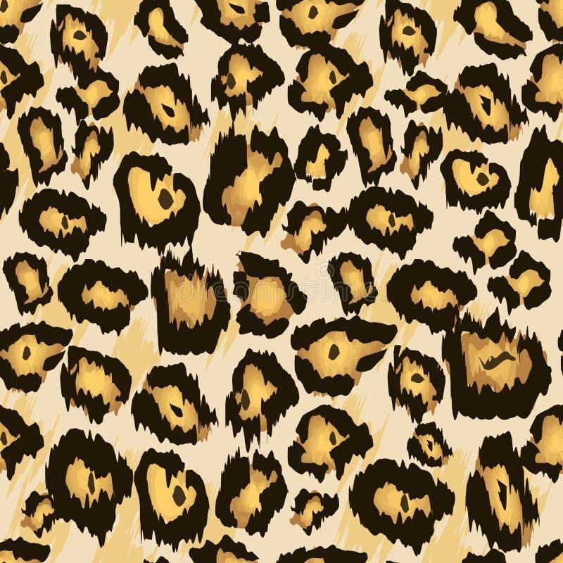 De huid naadloos patroon van de luipaardjachtluipaard, vector De gestileerde Bevlekte Achtergrond van de Luipaardhuid voor Manier vector illustratie