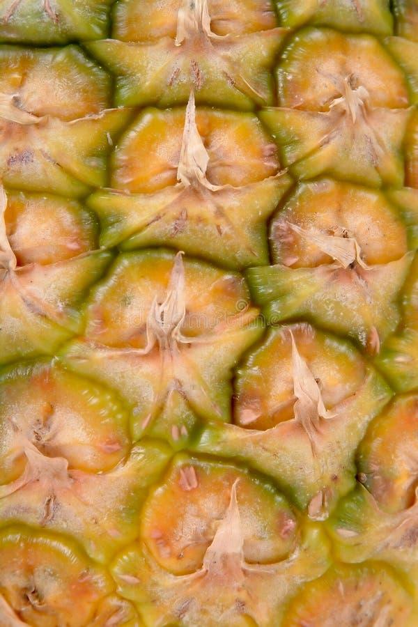 De huid van de ananas stock afbeelding