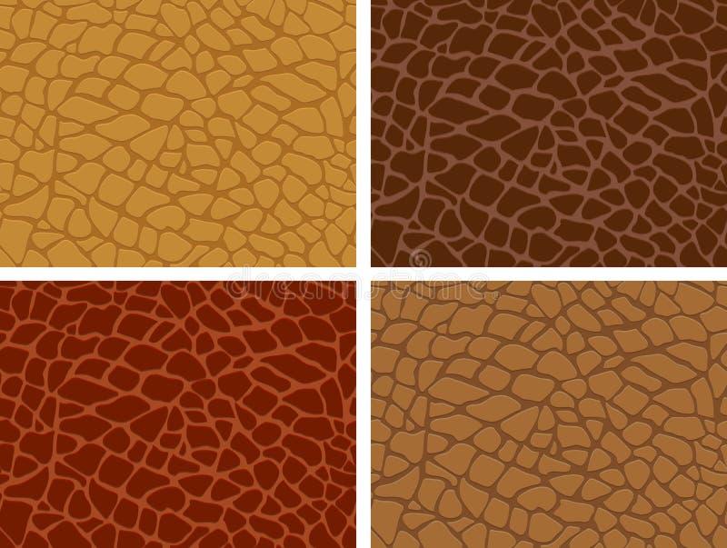 De huid van de krokodil vector illustratie