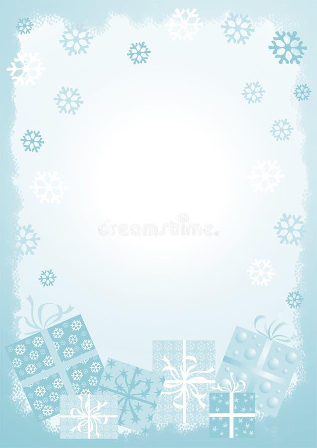 De huidige achtergrond van Kerstmis vector illustratie