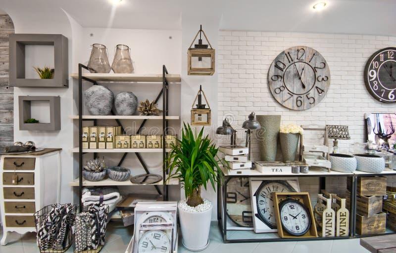 De huisdecoratie winkelen binnenland stock fotografie