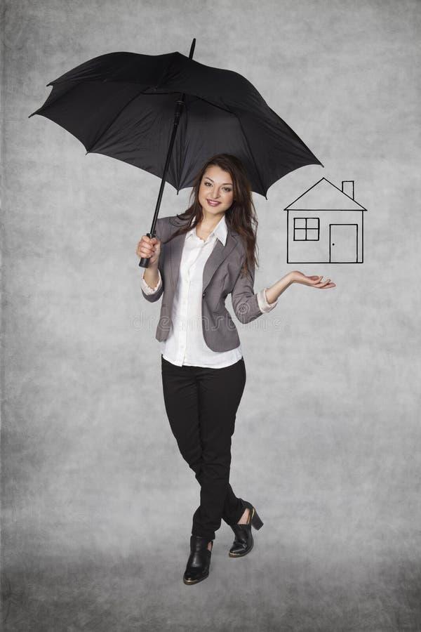 De huisverzekering is noodzakelijk royalty-vrije stock afbeeldingen