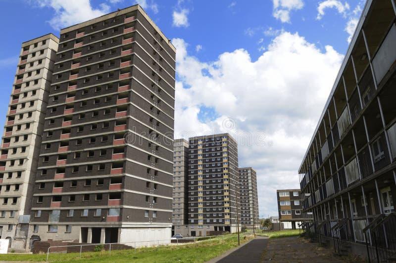 De huisvesting van de het blokraad van de toren in het UK stock afbeeldingen
